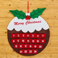 Christmas Pudding Felt Advent Calendar